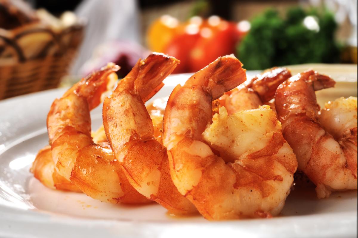 Image Crevettes sautées, émulsion de gingembre